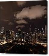 Windy City At Night Canvas Print