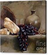 Wine And Bread Canvas Print