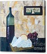 Wine and Cheese Hour Canvas Print