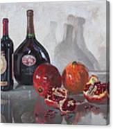 Wine And Pomegranates Canvas Print