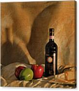 Wine Apples And Cheese Canvas Print