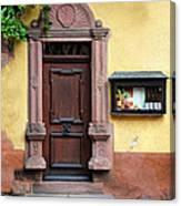 Wine Bar Door Canvas Print