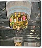 Wine Bottle Chandelier Canvas Print