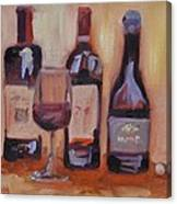 Wine Bottle Trio Canvas Print