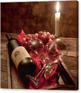 Wine By Candle Light I Canvas Print