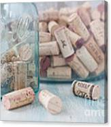 Wine Cork Collection Canvas Print