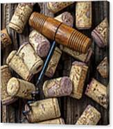 Wine Corks Celebration Canvas Print