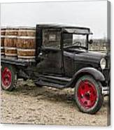 Wine Delivery Truck Canvas Print