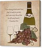 Wine For The Heart Canvas Print
