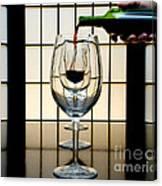 Wine For Three Canvas Print