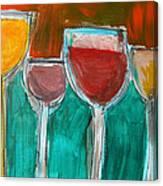 Wine Party 3 Canvas Print