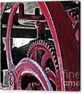 Wine Press Gears Canvas Print