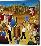 Wine Pressing 2  Canvas Print