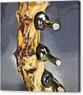 Wine Rack A Piece Of Wood Canvas Print