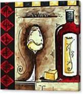 Wine Tasting Original Madart Painting Canvas Print