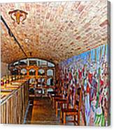 Wine Tasting Room In Castello Di Amorosa In Napa Valley-ca Canvas Print