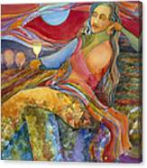 Wine Woman And Song Canvas Print