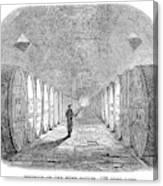 Winemaking Vault, 1866 Canvas Print