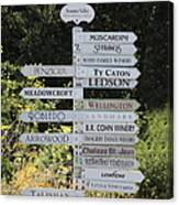 Winery Street Sign In The Sonoma California Wine Country 5d24601 Square Canvas Print