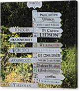 Winery Street Sign In The Sonoma California Wine Country 5d24601 Canvas Print