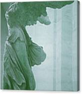 Winged Victory Of Samothrace Statue At The Louvre Museum        Canvas Print