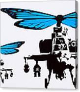 Wingin It - Blue Canvas Print