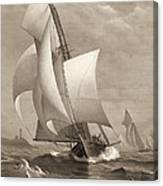 Winning Yacht 1885 Canvas Print