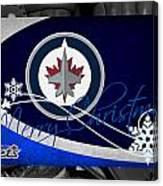 Winnipeg Jets Christmas Canvas Print