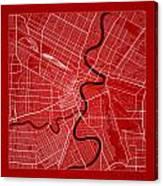 Winnipeg Street Map - Winnipeg Canada Road Map Art On Color Canvas Print