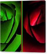 Winsome Roses Pair Canvas Print