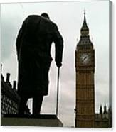 Winston Churchill Facing Big Ben Canvas Print