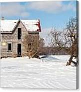 Winter Abandoned Farmouse Canvas Print