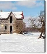 Winter Abandoned Farmouse Canvas Print