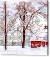 Winter Arrives Watercolor Canvas Print