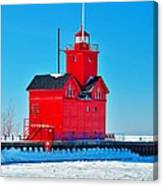 Winter At Big Red Canvas Print