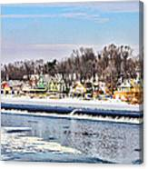 Winter At Boathouse Row In Philadelphia Canvas Print