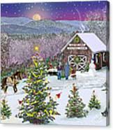 Winter At Campton Farm Canvas Print