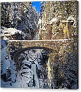 Winter At Christine Falls Canvas Print