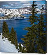 Winter At Crater Lake Canvas Print