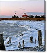 Winter At East Point Lighthouse  Canvas Print