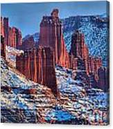 Winter At Fisher Towers Canvas Print
