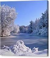 Winter At Lake Marmo Canvas Print