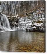 Winter At Lewis Falls Canvas Print