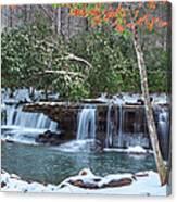 Winter At Mash Fork Falls Canvas Print