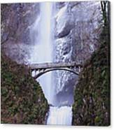 Winter At Multnomah Falls Canvas Print