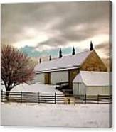 Winter At Piper Barn Anteitam National Battleground Canvas Print