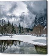 Winter At Swinging Bridge Canvas Print