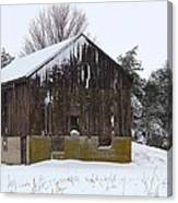Winter At The Barn Canvas Print
