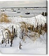 Winter At The Beach 2 Canvas Print