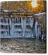 Winter At The Canal Canvas Print